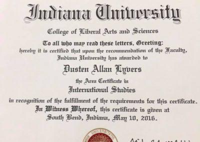 Certificate in International Studies