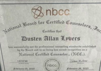 National Certified Counselor (NCC)